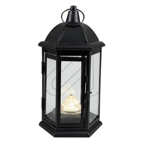 Metall Laterne LED 25cm schwarz 12 warmweiße LEDs ...